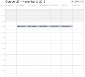 Daily Huddle Calendar