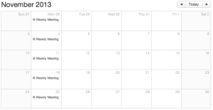 Weekly Meeting Calendar